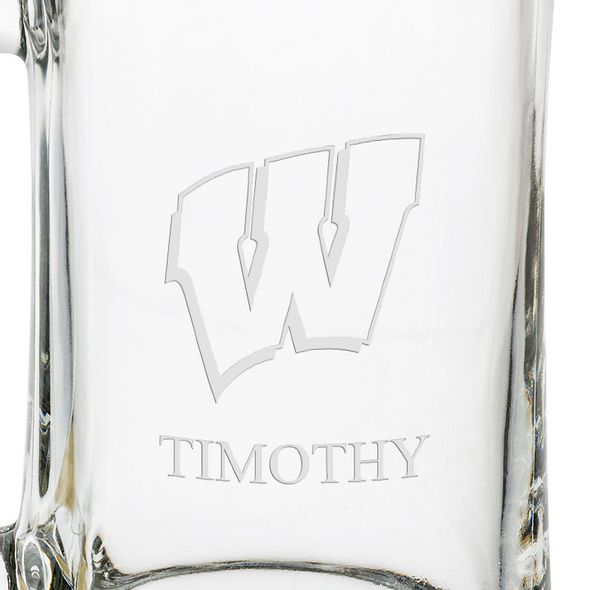 Wisconsin 25 oz Beer Mug - Image 3