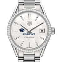 Penn State University Women's TAG Heuer Steel Carrera with MOP Dial & Diamond Bezel
