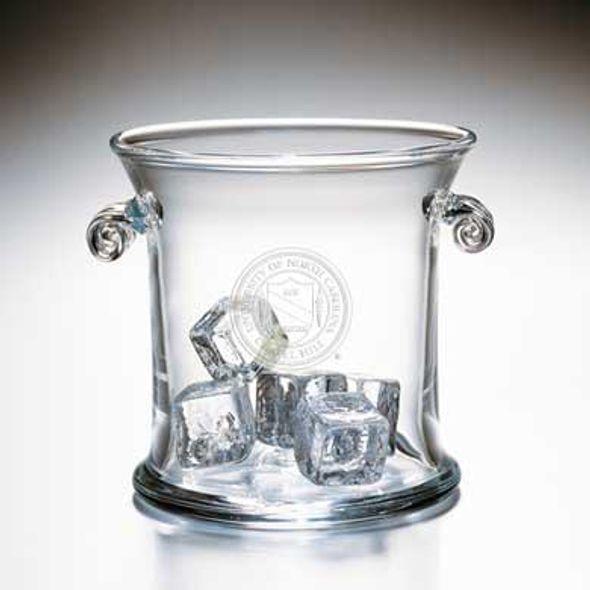 UNC Glass Ice Bucket by Simon Pearce