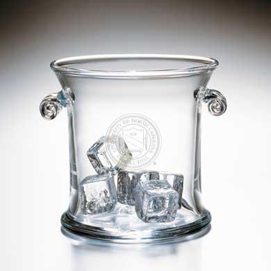UNC Glass Ice Bucket by Simon Pearce