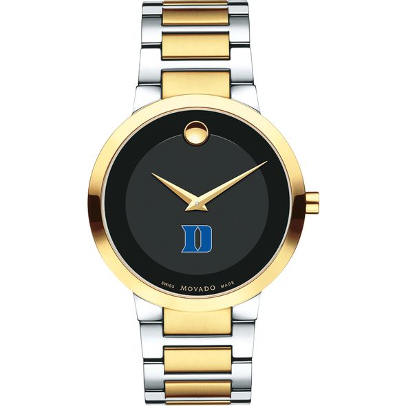 Duke University Men's Movado Two-Tone Modern Classic Museum with Bracelet - Image 2