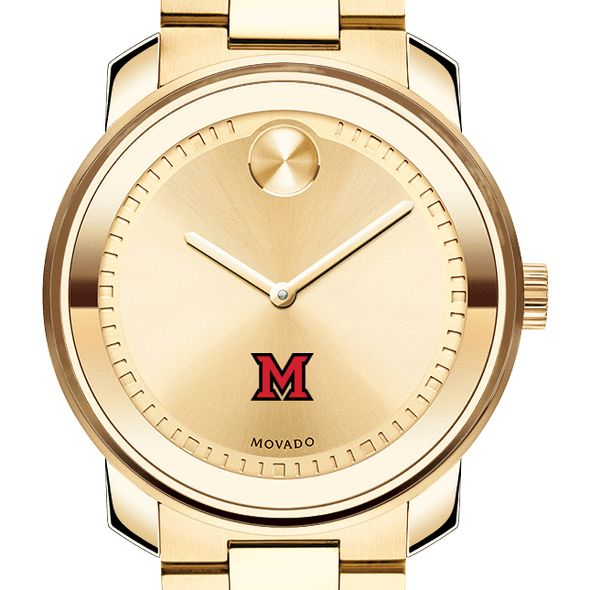Miami University Men's Movado Gold Bold