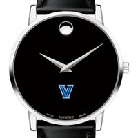 Villanova University Men's Movado Museum with Leather Strap