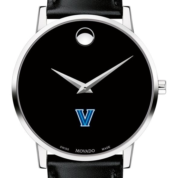 Villanova University Men's Movado Museum with Leather Strap - Image 1