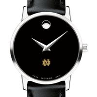 Notre Dame Women's Movado Museum with Leather Strap