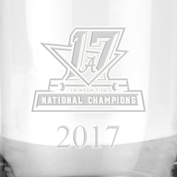 Alabama Crimson Tide 2017 National Championship Tumbler Glasses - Set of 2 - Image 3