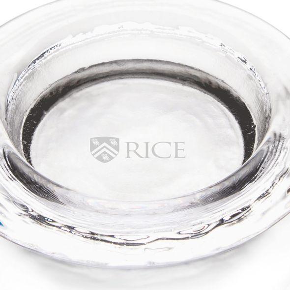 Rice University Glass Wine Coaster by Simon Pearce - Image 2
