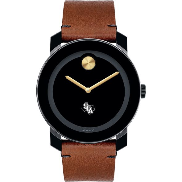SFASU Men's Movado BOLD with Brown Leather Strap - Image 2