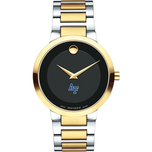 US Air Force Academy Men's Movado Two-Tone Modern Classic Museum with Bracelet - Image 2