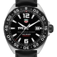 TCU Men's TAG Heuer Formula 1 with Black Dial
