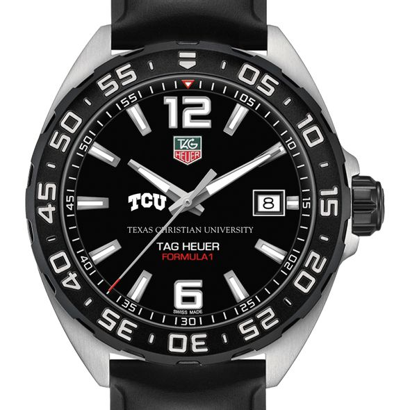 Texas Christian University Men's TAG Heuer Formula 1 with Black Dial