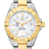 Yale University TAG Heuer Two-Tone Aquaracer for Women
