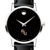 Florida State University Women's Movado Museum with Leather Strap