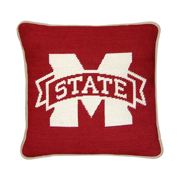 Mississippi State Handstitched Pillow - Image 1