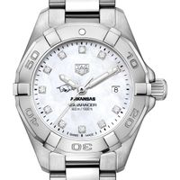 University of Arkansas W's TAG Heuer Steel Aquaracer w MOP Dia Dial