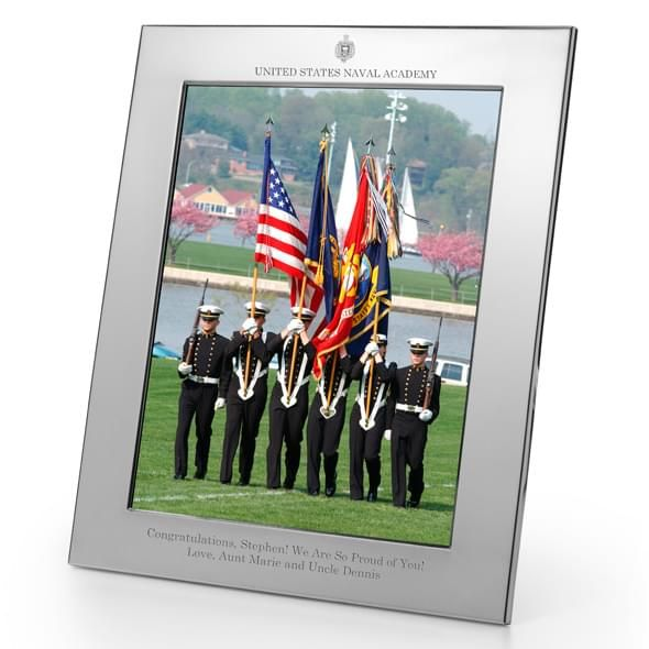 Naval Academy Polished Pewter 8x10 Picture Frame - Image 2