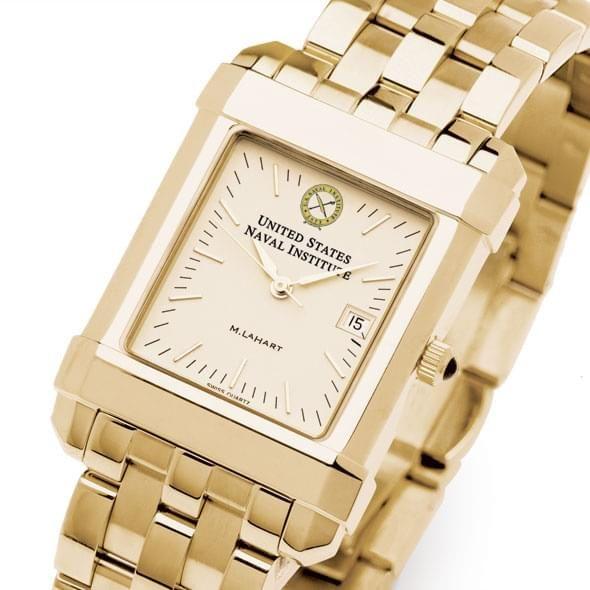 USNI Men's Gold Quad Watch with Bracelet