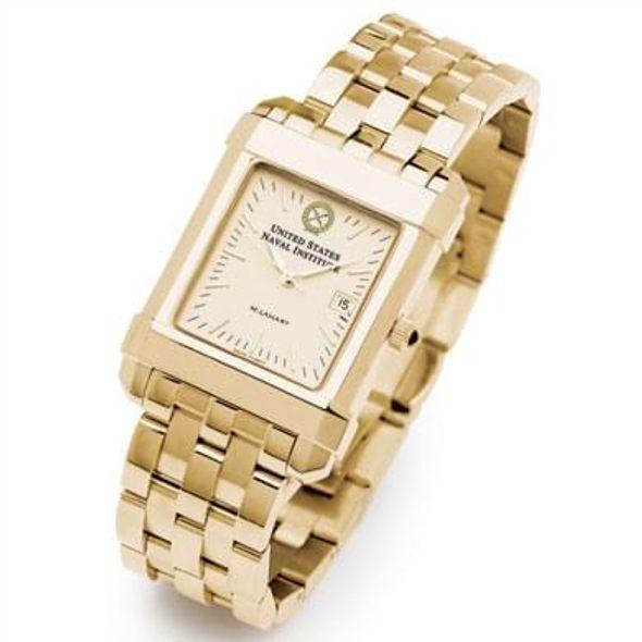 USNI Men's Gold Quad Watch with Bracelet - Image 2