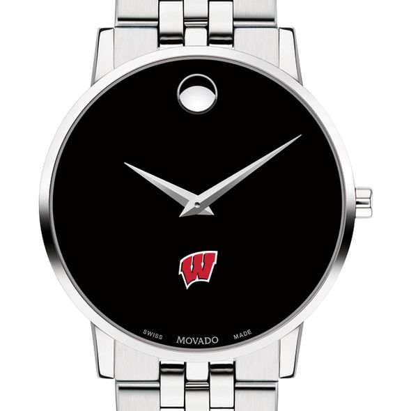 University of Wisconsin Men's Movado Museum with Bracelet - Image 1