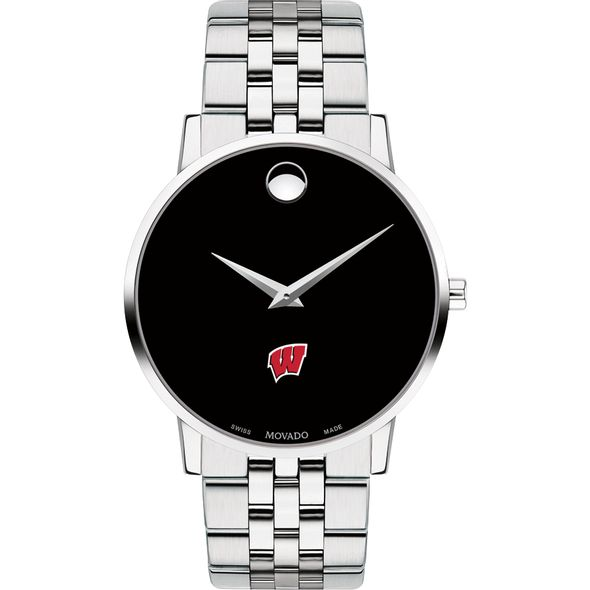 University of Wisconsin Men's Movado Museum with Bracelet - Image 2