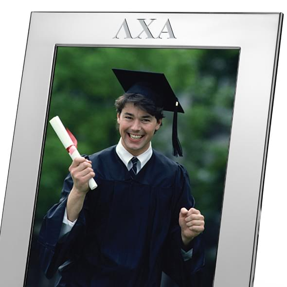 Lambda Chi Alpha Polished Pewter 8x10 Picture Frame - Image 2
