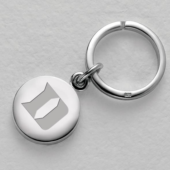 Duke Sterling Silver Insignia Key Ring - Image 1