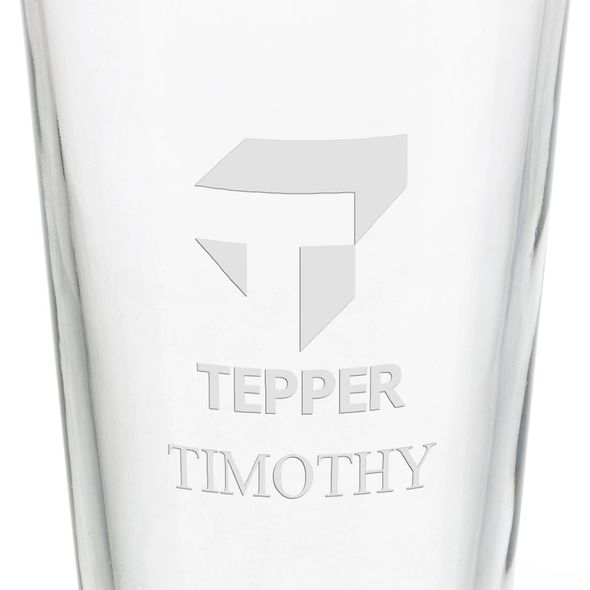 Tepper School of Business 16 oz Pint Glass - Image 3