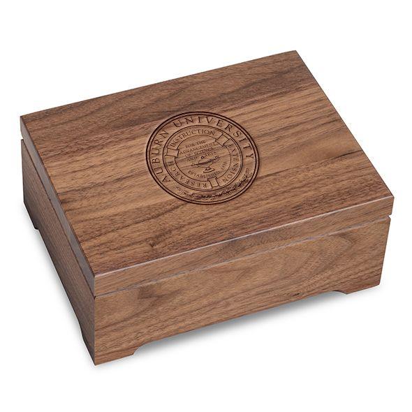 Auburn University Solid Walnut Desk Box