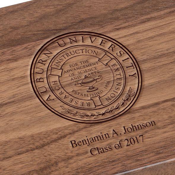 Auburn University Solid Walnut Desk Box - Image 3