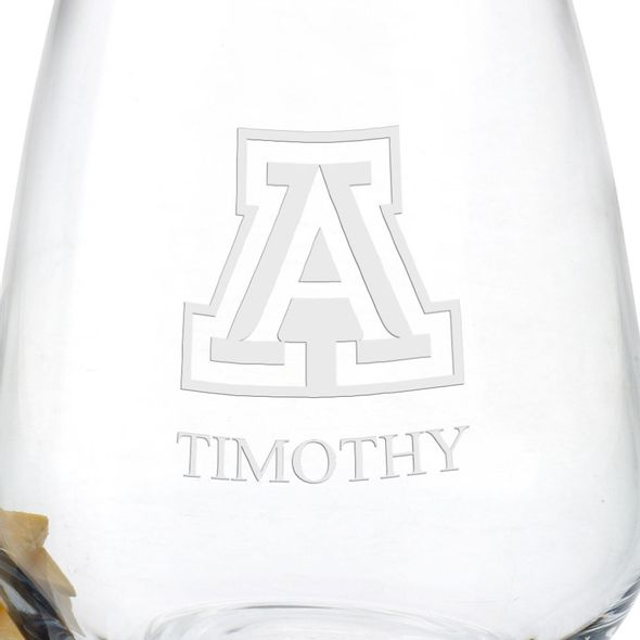 University of Arizona Stemless Wine Glasses - Set of 4 - Image 3