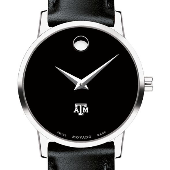 Texas A&M University Women's Movado Museum with Leather Strap