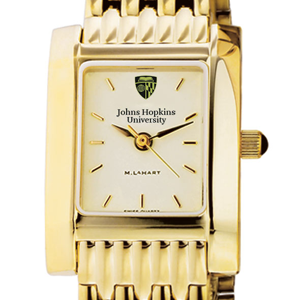 Johns Hopkins Women's Gold Quad Watch with Bracelet