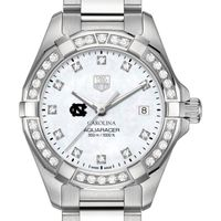 University of North Carolina W's TAG Heuer Steel Aquaracer with MOP Dia Dial & Bezel