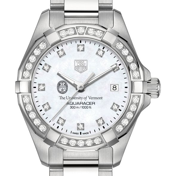 UVM Women's TAG Heuer Steel Aquaracer with MOP Diamond Dial & Diamond Bezel