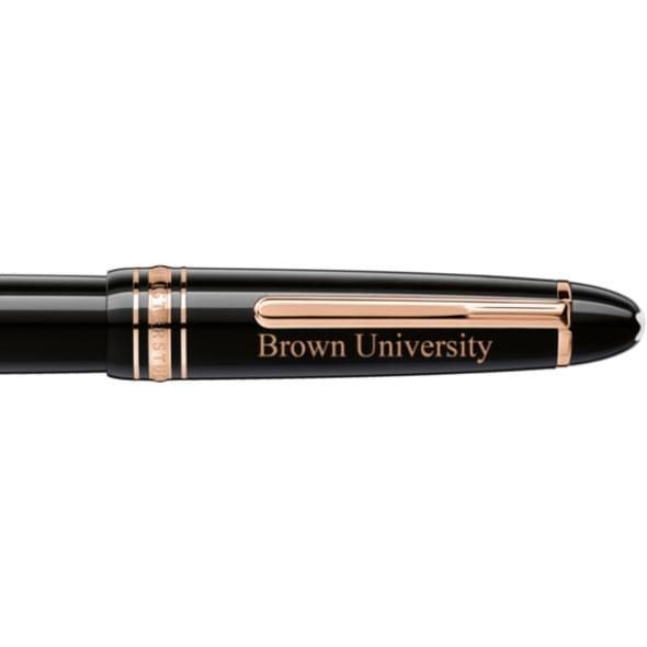 Brown University Montblanc Meisterstück LeGrand Rollerball Pen in Red Gold - Image 2