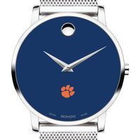 Clemson Men's Movado Museum with Blue Dial & Mesh Bracelet