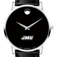 James Madison University Men's Movado Museum with Leather Strap