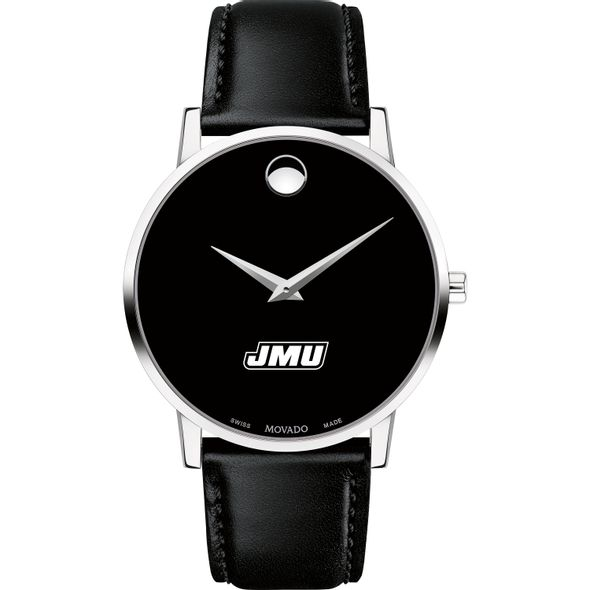 James Madison University Men's Movado Museum with Leather Strap - Image 2