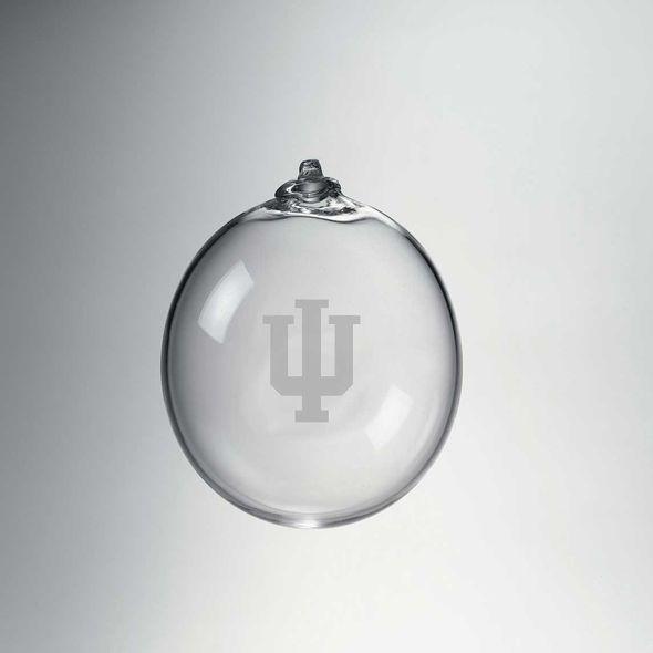 Indiana University Glass Ornament by Simon Pearce