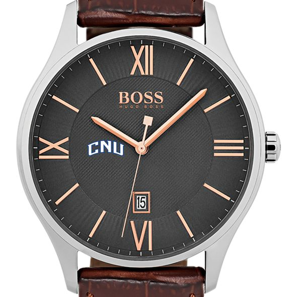 Christopher Newport University Men's BOSS Classic with Leather Strap from M.LaHart