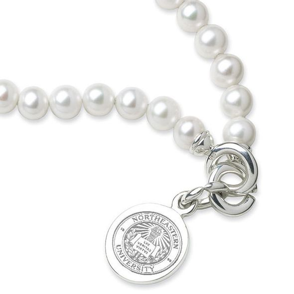 Northeastern Pearl Bracelet with Sterling Silver Charm - Image 2