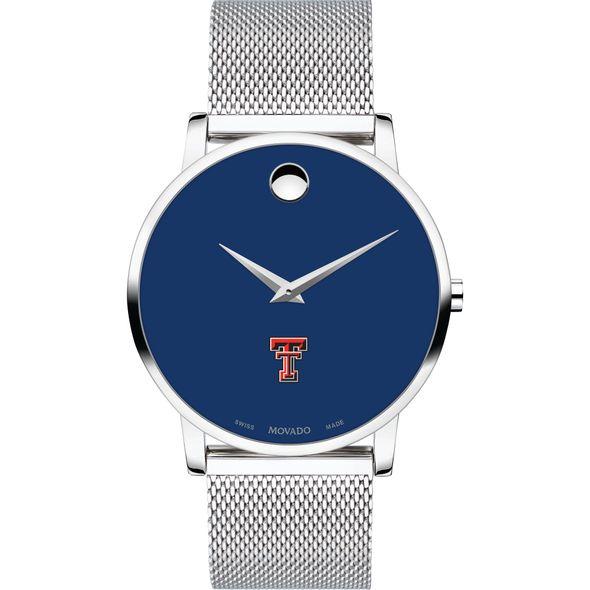 Texas Tech Men's Movado Museum with Blue Dial & Mesh Bracelet - Image 2