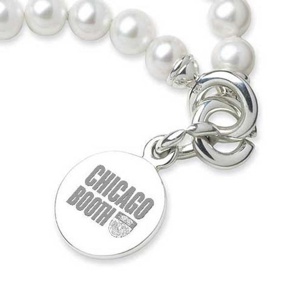 Chicago Booth Pearl Bracelet with Sterling Silver Charm - Image 2