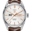 MIT Men's TAG Heuer Day/Date Carrera with Silver Dial & Strap - Image 1