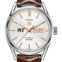 MIT Men's TAG Heuer Day/Date Carrera with Silver Dial & Strap