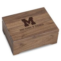 Michigan Ross Solid Walnut Desk Box