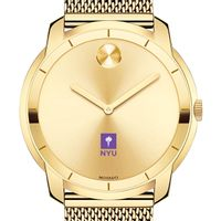 New York University Men's Movado Gold Bold 44