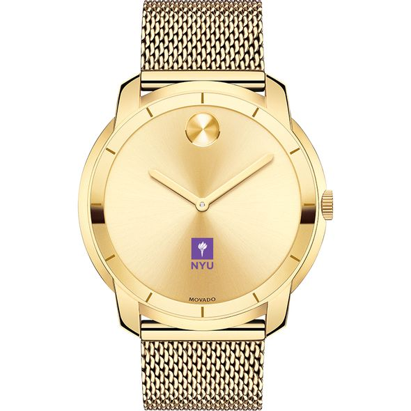 New York University Men's Movado Gold Bold 44 - Image 2