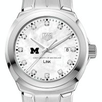 University of Michigan TAG Heuer Diamond Dial LINK for Women