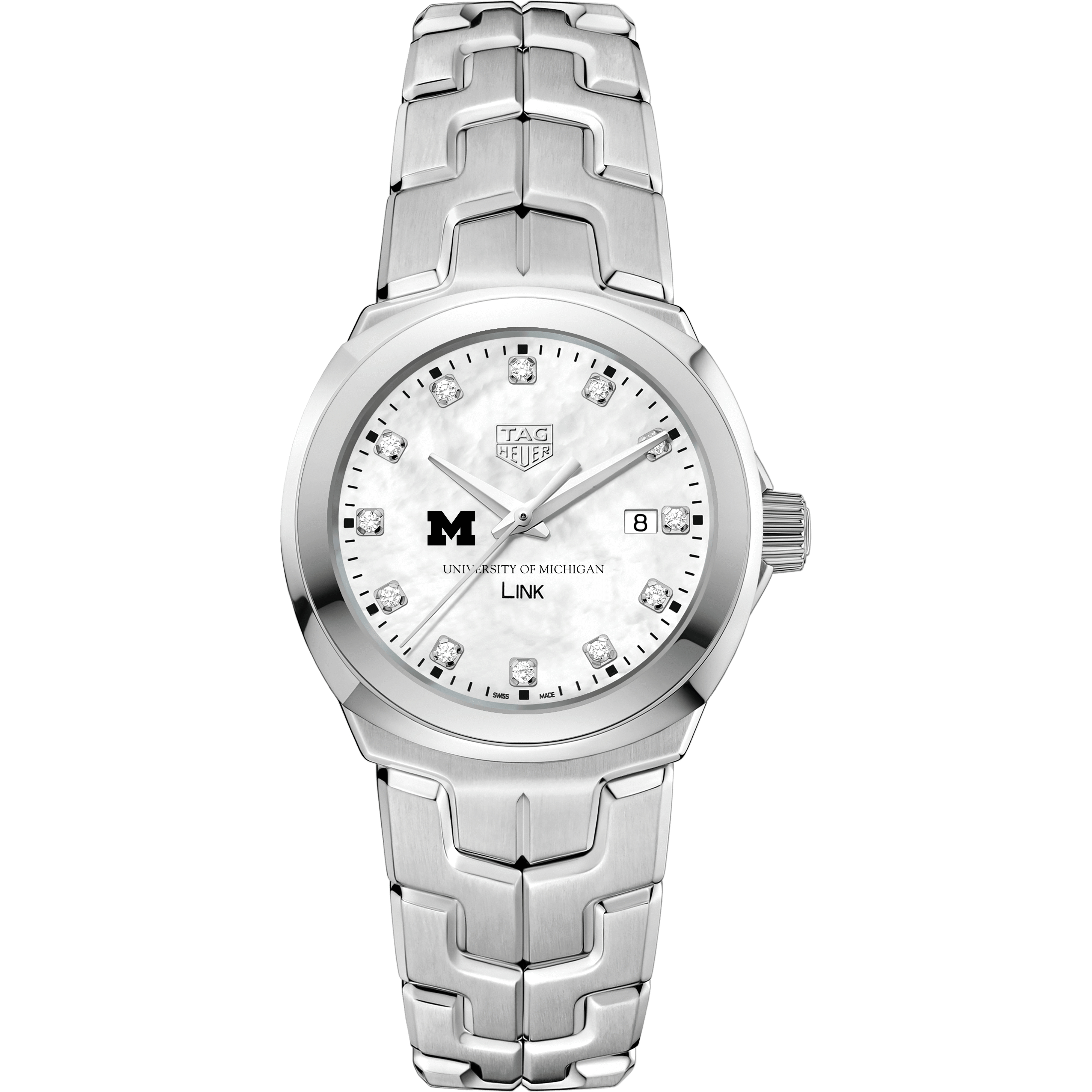 University of Michigan TAG Heuer Diamond Dial LINK for Women - Image 2